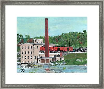 Cutler's Mill - Circa 1870 Framed Print by Cliff Wilson