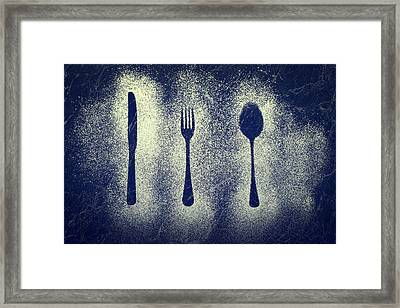 Cutlery Series Framed Print by Amanda And Christopher Elwell