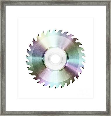 Cutting Edge Music  Framed Print by Kitty Bitty