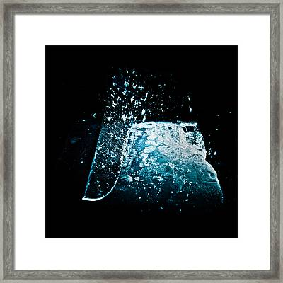Cutting The Ice Framed Print by Wolfgang Simm
