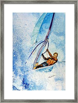 Cutting The Surf Framed Print by Hanne Lore Koehler