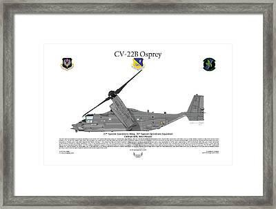 Cv-22b Osprey 20th Sos Framed Print by Arthur Eggers