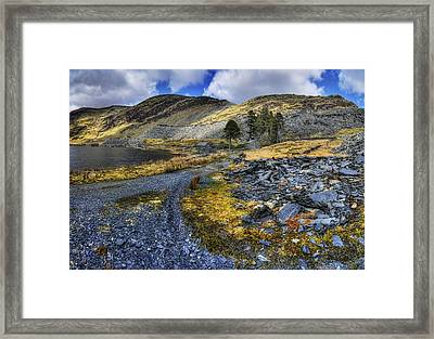 Cwmorthin Landscape Framed Print by Ian Mitchell
