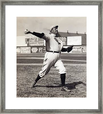 Cy Young - American League Pitching Superstar - 1908 Framed Print by Daniel Hagerman
