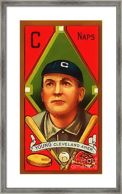 Cy Young Cleveland Naps Baseball Card 0838 Framed Print by Wingsdomain Art and Photography