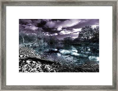 Cyan River  Framed Print by Rob Hawkins