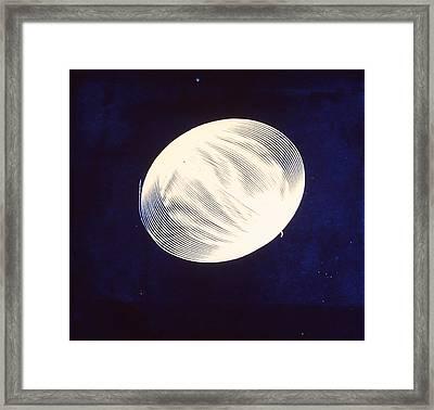 Singular Cyanotype Framed Print by Jeremy Johnson