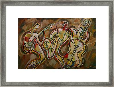 Cyber Jazz Framed Print by Leon Zernitsky