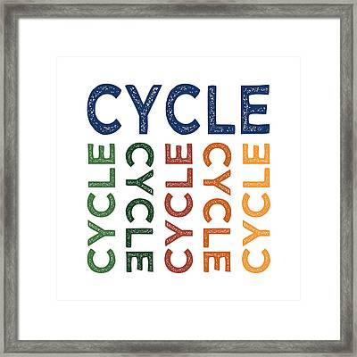 Cycle Cute Colorful Framed Print by Flo Karp