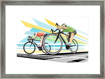 Cycling Sprint Poster Print Finish Line Framed Print by Sassan Filsoof