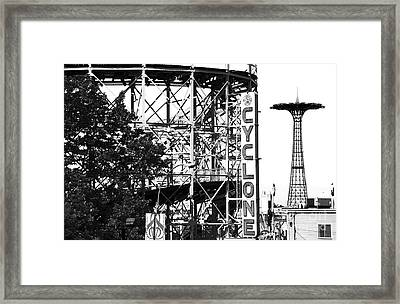 Cyclone At Coney Island Framed Print by John Rizzuto