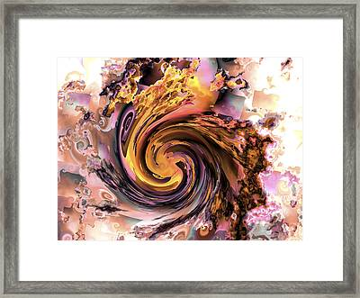 Cyclone Of Color Framed Print by Claude McCoy