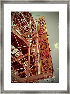Cyclone Roller Coaster - Coney Island Framed Print by Jim Zahniser