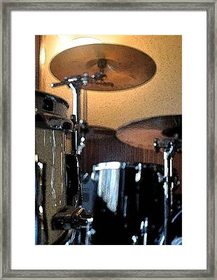 Cymbal Of Authority Framed Print by Everett Bowers