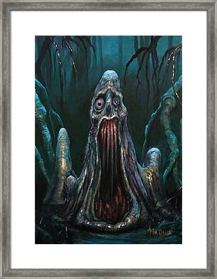 Cypress Knee Framed Print by Tim Davis