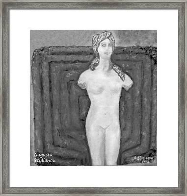 Cyprus  Aphrodite Framed Print by Augusta Stylianou