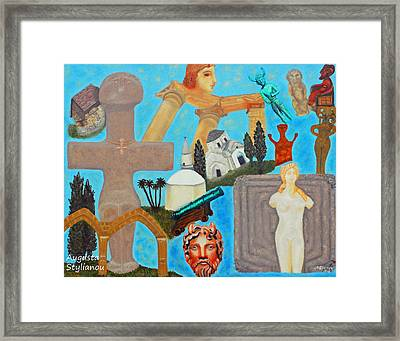 Cyprus History Framed Print by Augusta Stylianou