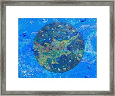 Cyprus Planetary Map Framed Print by Augusta Stylianou
