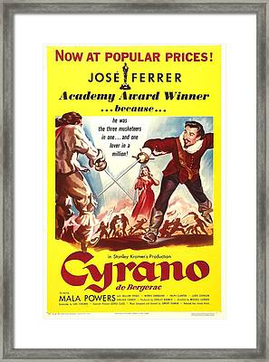 Cyrano De Bergerac, Us Poster, Jose Framed Print by Everett