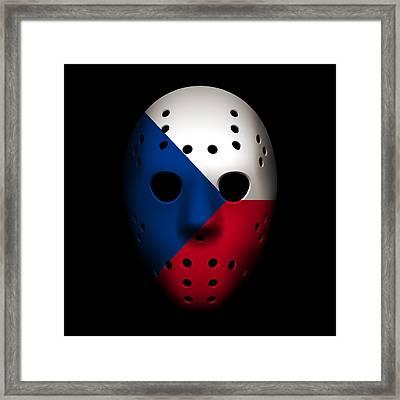 Czech Republic Goalie Mask Framed Print by Joe Hamilton