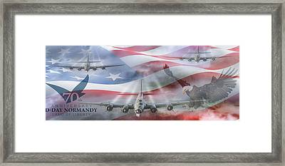 D-day 70th Anniversary Framed Print by Peter Chilelli