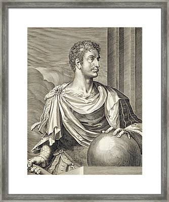 D. Octavius Augustus Emperor Of Rome 27 Framed Print by Titian