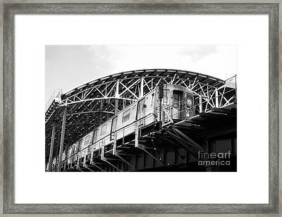 D-train Framed Print by John Rizzuto