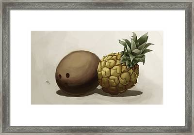 Da Pinepple With Cocoanut  Framed Print by Christopher Evans