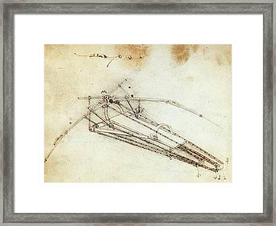 Da Vinci Flying Machine 1485 Framed Print by Science Source