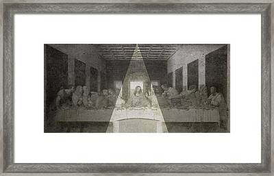 Da Vinci Last Supper Revisited Framed Print by Filippo B