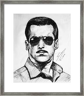 Salman Khan Framed Print by Salman Ravish