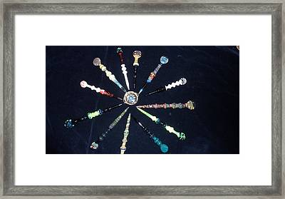Dabbers And A Dish Framed Print by Glass Dabber