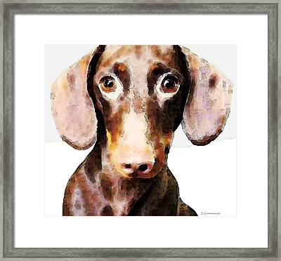 Dachshund Art - Roxie Doxie Framed Print by Sharon Cummings