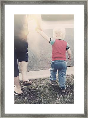 Dad Teach Son Road Safety Lessons Framed Print by Jorgo Photography - Wall Art Gallery