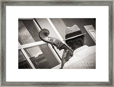 Daddy Played Bass Framed Print by Sherry Davis