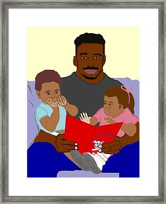 Daddy's Bundles Framed Print by Pharris Art