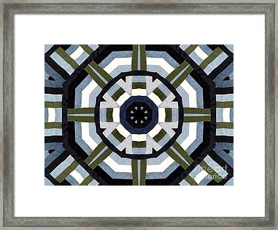 Daddy's Denims Quilt Framed Print by Barbara Griffin