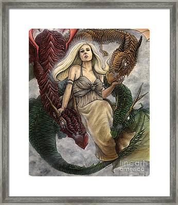 Daenerys And Her Dragons Framed Print by Jason Axtell