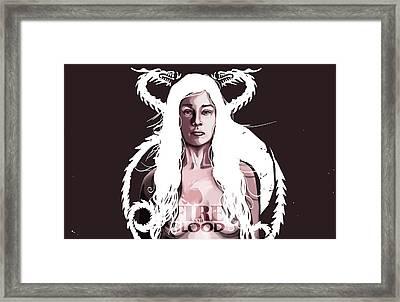 Daenerys Framed Print by Jeremy Scott