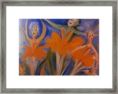 Daffodil Ballet Framed Print by Judith Desrosiers