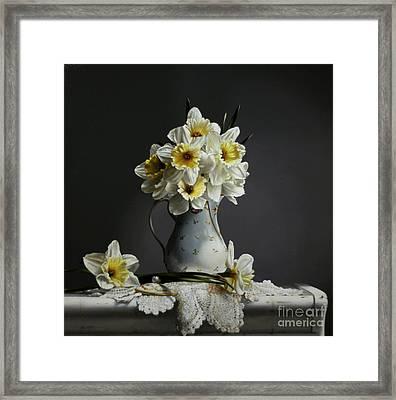 Daffodils Framed Print by Larry Preston