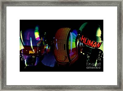 Daft Punk Painting Framed Print by Marvin Blaine