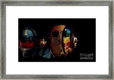 Daft Punk Pharrell Williams  Framed Print by Marvin Blaine