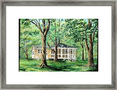 Dahlgren Home Framed Print by AnnaJo Vahle