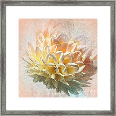 Dahlia Art Framed Print by Kaye Menner