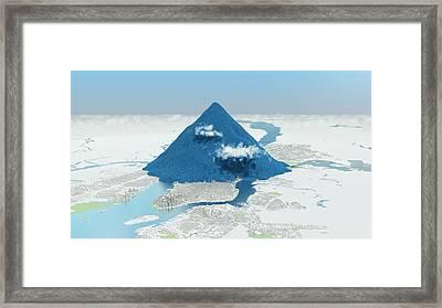 Daily Global Co2 Emissions Framed Print by Adam Nieman