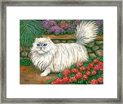 Dainty The Cat Framed Print by Linda Mears