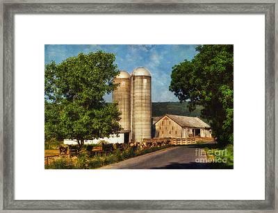 Dairy Farming Framed Print by Lois Bryan