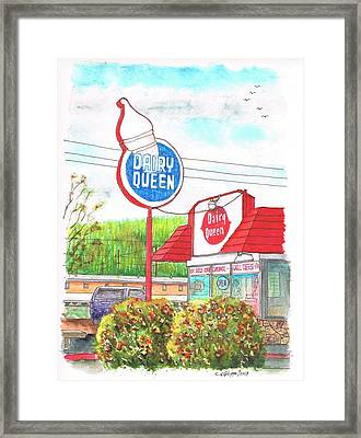 Dairy Queen In Route 66 - Williams - Arizona Framed Print by Carlos G Groppa