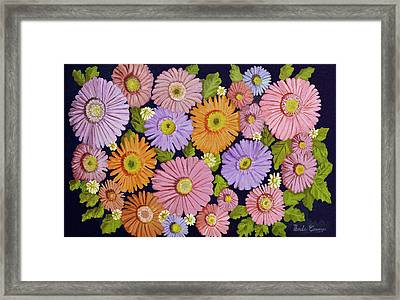 Daisies 2 Framed Print by Thecla Correya